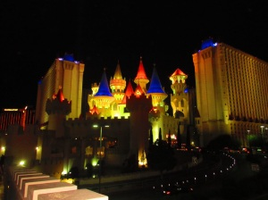 You can't really miss the Excalibur - on the more gaudy end of the Vegas scale of architecture.